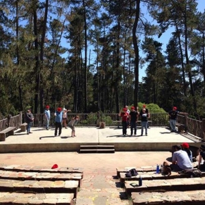 Camp Improv Utopia outdoor stage